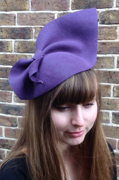 Wool Felt Half Hat - 1940s style. Perfect for Goodwood Revival. Bespoke Millinery by Isabella Josie