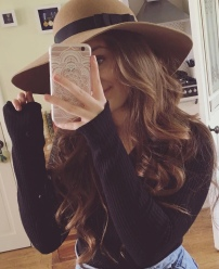"""""""Thank you so much again for the hats they are gorgeous and I finally got to wear it out today because of the sun! I kept getting so many compliments on it!"""" Miss SE March 2016"""