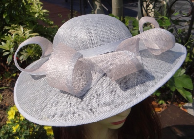 """""""I just want to say how delighted I am with my hat, it is absolutely beautiful- you are so very clever. I shall definitely be recommending you, thank you so very much!"""" Mrs S.C June 2016 (Mother of the bride)"""