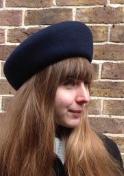 Navy French Blocked Beret Classic Look West Sussex Milliner Isabella Josie