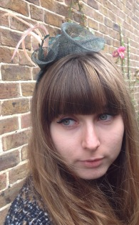 Green Lily and Feather Fascinator