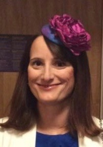 """""""What a stunning percher. The blue silk shot matched my dress and the cerise pink flower was just stunning, a striking contrast. I received so many compliments and I wore it all day and ALL EVENING including during all the dancing. It made me feel very beautiful and feminine."""" Mrs KB (Oct 2016)"""