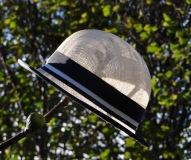 Ivory Sinamay Straw Bowler Hat by Isabella Josie, Bespoke Milliner, Chichester, Bognor, Goodwood, West Sussex