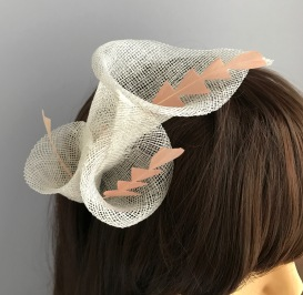 Ivory Lily Sinamany Headband with Handcut Goose Feather Stamens