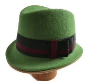 Green Wool Felt Trilby Hat Isabella Josie Millinery