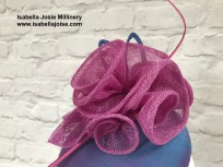 Silk and Sinamay Cocktail Hat, Bespoke Millinery by Isabella Josie Millinery
