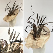 Ascot Goodwood Feather Racing Hat Bespoke Millinery by Isabella Josie