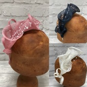 Lily Headpieces with Pearl Stamens, Bridesmaid, Fascinator. Bespoke Millinery by Isabella Josie