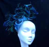 Curled Peacock Feather Fascinator, Bespoke Millinery by Isabella Josie