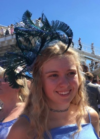 """Bella made me a lovely bespoke feather headpiece to match my outfit. It looked beautiful and I felt so special wearing it, I had so many compliments! I thoroughly recommend."""