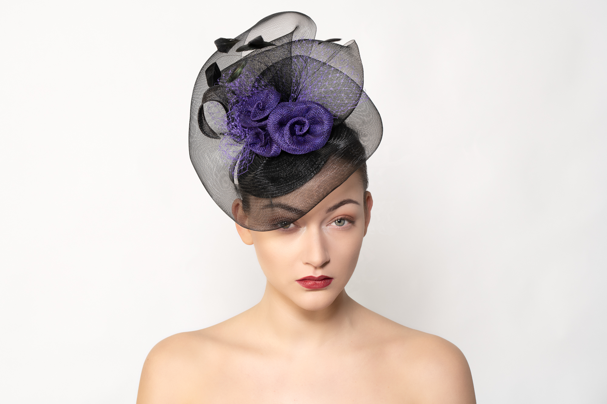 Black and Purple Brin Floaty Headpiece