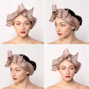 Faye - Summer Turban effect headpiece, ideal for boho and vintage events and weddings, handcrafted by Isabella Josie