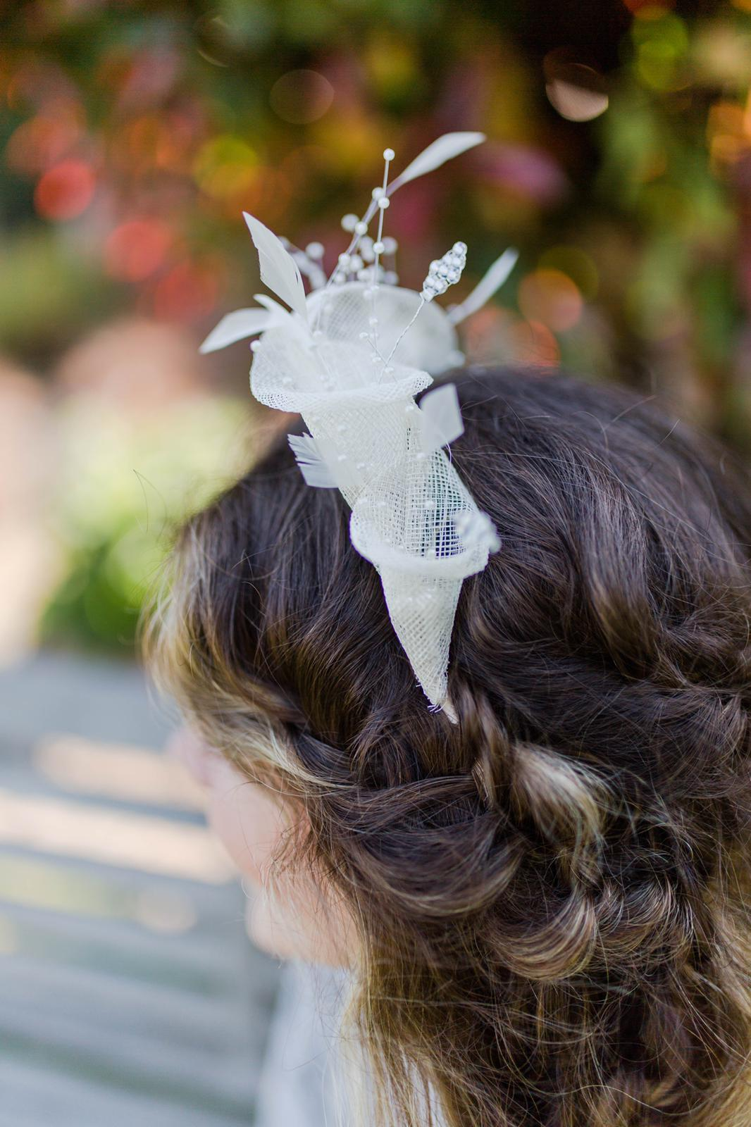 Ivory Lily Bridal Headband by Isabella Josie Millinery