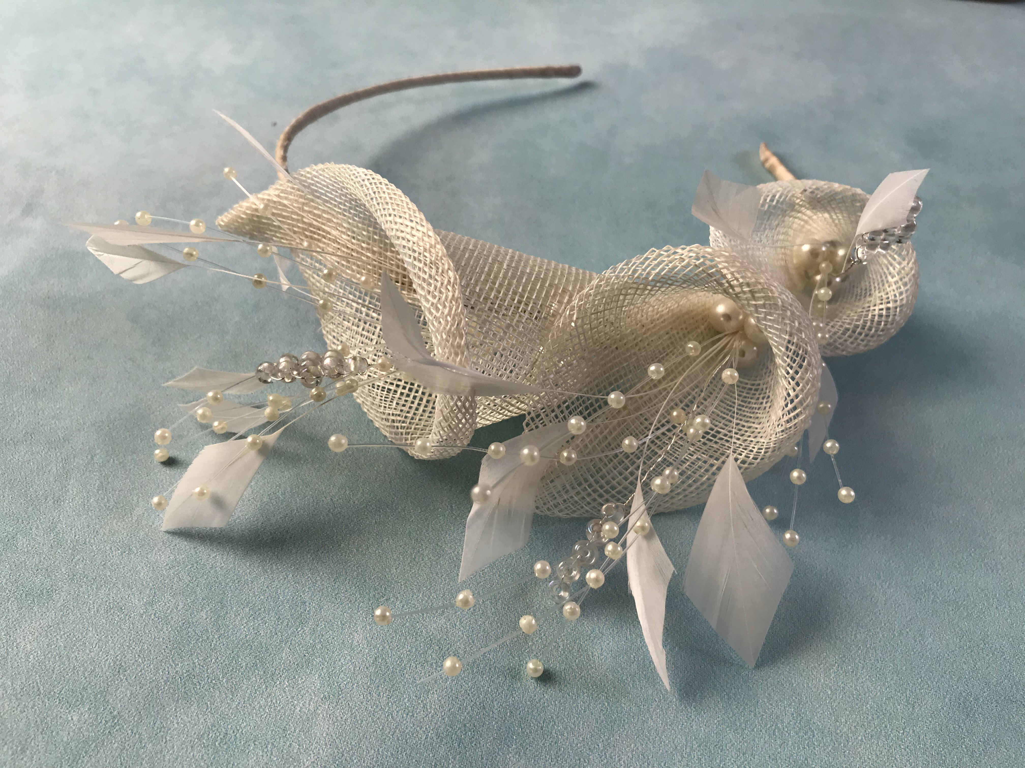 Ivory Lily Bridal Headpiece by Isabella Josie Millinery