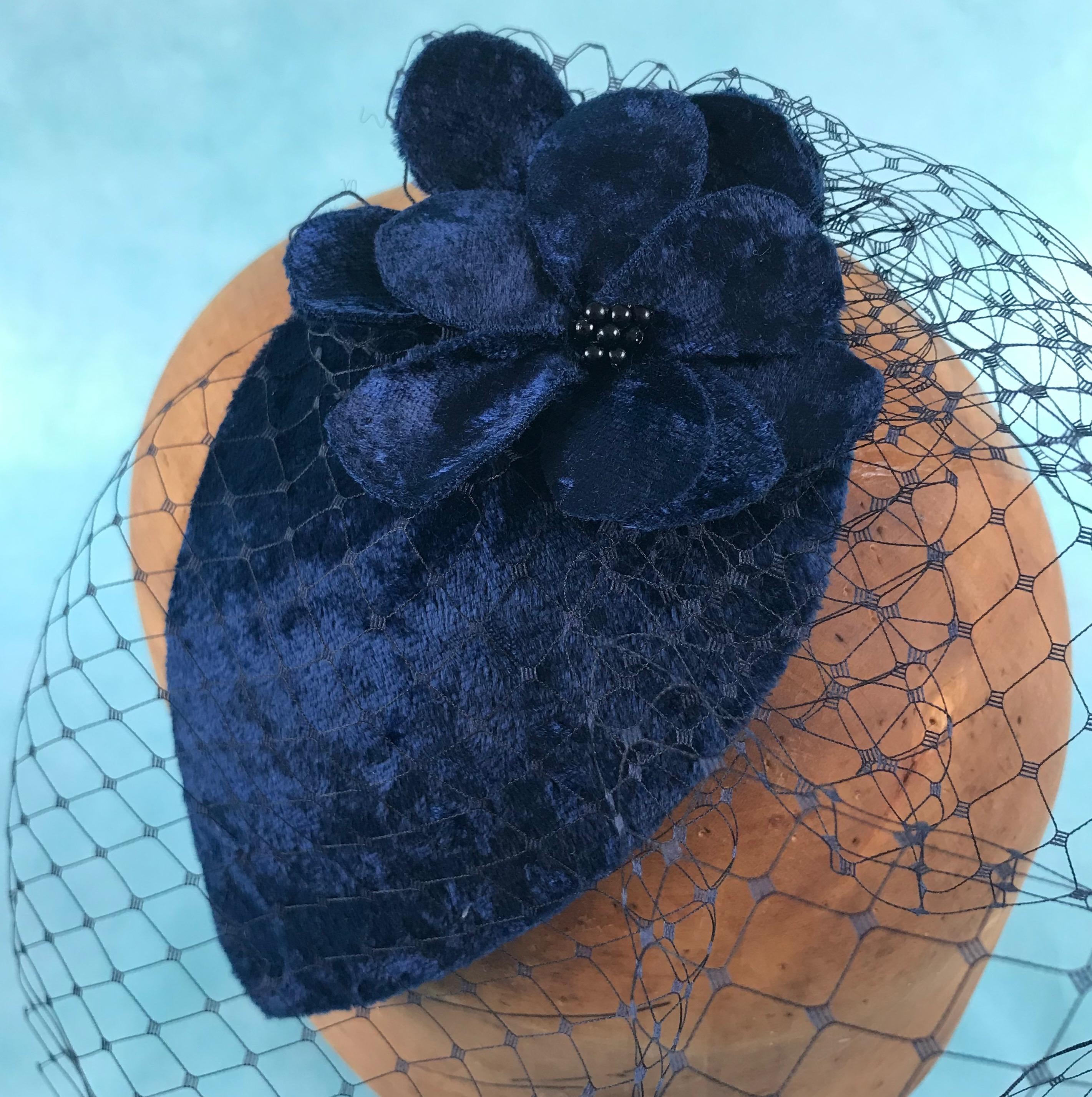 Vintage style birdcage headpiece by Isabella Josie Millinery