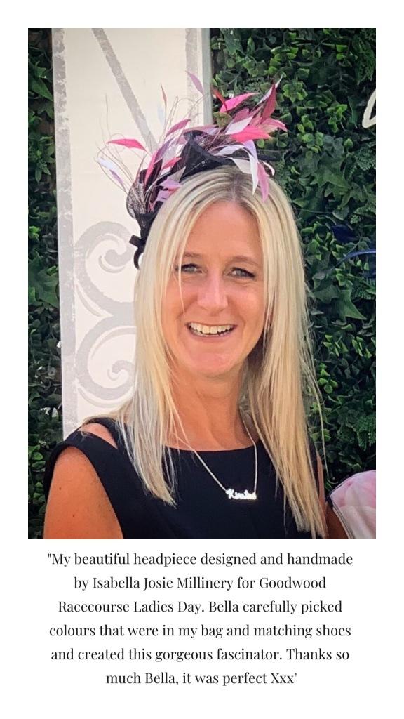 client review Isabella Josie West Sussex Milliner